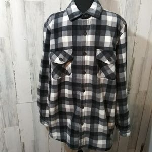 Freedom Foundry sherpa lined flannel jacket L